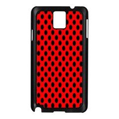 Polka Dot Black Red Hole Backgrounds Samsung Galaxy Note 3 N9005 Case (black) by Mariart