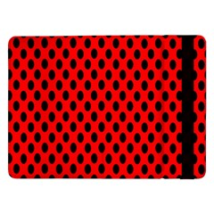 Polka Dot Black Red Hole Backgrounds Samsung Galaxy Tab Pro 12 2  Flip Case by Mariart