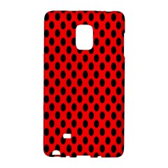 Polka Dot Black Red Hole Backgrounds Galaxy Note Edge by Mariart