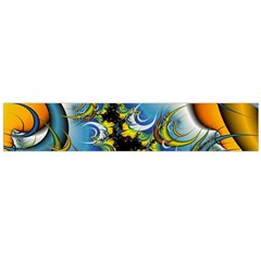 High Detailed Fractal Image Background With Abstract Streak Shape Flano Scarf (large) by Simbadda