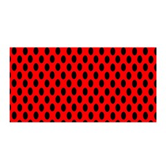 Polka Dot Black Red Hole Backgrounds Satin Wrap by Mariart