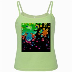Neon Paint Splatter Background Club Green Spaghetti Tank by Mariart