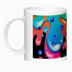 Neon Paint Splatter Background Club Night Luminous Mugs
