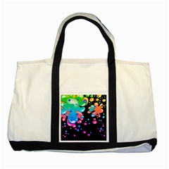 Neon Paint Splatter Background Club Two Tone Tote Bag by Mariart