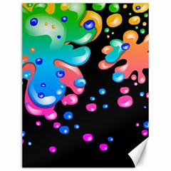 Neon Paint Splatter Background Club Canvas 12  X 16   by Mariart