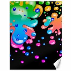 Neon Paint Splatter Background Club Canvas 36  X 48   by Mariart