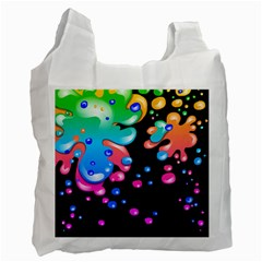 Neon Paint Splatter Background Club Recycle Bag (one Side) by Mariart