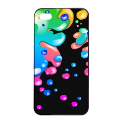 Neon Paint Splatter Background Club Apple Iphone 4/4s Seamless Case (black) by Mariart