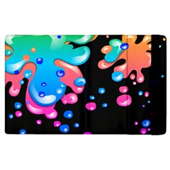 Neon Paint Splatter Background Club Apple Ipad 2 Flip Case by Mariart