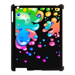 Neon Paint Splatter Background Club Apple Ipad 3/4 Case (black) by Mariart