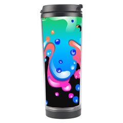 Neon Paint Splatter Background Club Travel Tumbler by Mariart