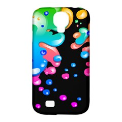 Neon Paint Splatter Background Club Samsung Galaxy S4 Classic Hardshell Case (pc+silicone) by Mariart