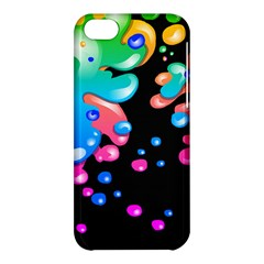 Neon Paint Splatter Background Club Apple Iphone 5c Hardshell Case by Mariart