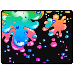 Neon Paint Splatter Background Club Double Sided Fleece Blanket (large)  by Mariart