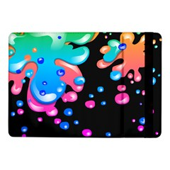 Neon Paint Splatter Background Club Samsung Galaxy Tab Pro 10 1  Flip Case by Mariart