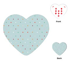 Polka Dot Flooring Blue Orange Blur Spot Playing Cards (heart)  by Mariart