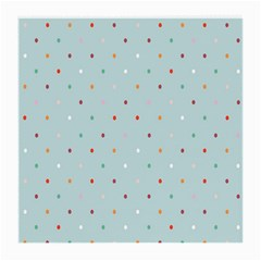 Polka Dot Flooring Blue Orange Blur Spot Medium Glasses Cloth (2 Side) by Mariart