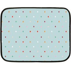 Polka Dot Flooring Blue Orange Blur Spot Fleece Blanket (mini) by Mariart