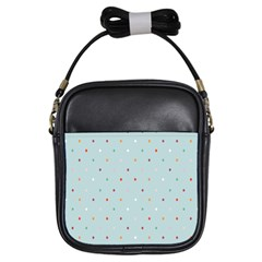Polka Dot Flooring Blue Orange Blur Spot Girls Sling Bags by Mariart