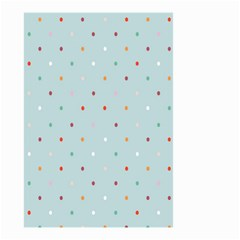 Polka Dot Flooring Blue Orange Blur Spot Small Garden Flag (two Sides) by Mariart