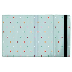 Polka Dot Flooring Blue Orange Blur Spot Apple Ipad 3/4 Flip Case by Mariart