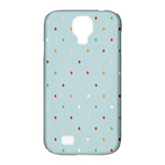 Polka Dot Flooring Blue Orange Blur Spot Samsung Galaxy S4 Classic Hardshell Case (pc+silicone) by Mariart