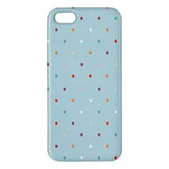 Polka Dot Flooring Blue Orange Blur Spot Iphone 5s/ Se Premium Hardshell Case by Mariart