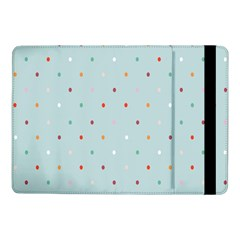 Polka Dot Flooring Blue Orange Blur Spot Samsung Galaxy Tab Pro 10 1  Flip Case