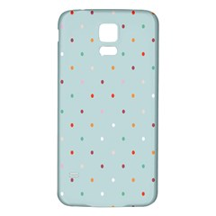 Polka Dot Flooring Blue Orange Blur Spot Samsung Galaxy S5 Back Case (white)
