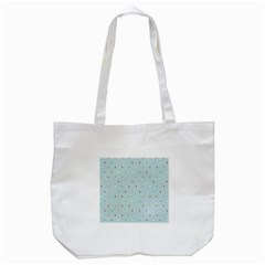 Polka Dot Flooring Blue Orange Blur Spot Tote Bag (white) by Mariart