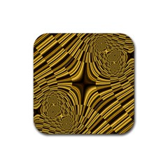 Fractal Golden River Rubber Coaster (square)  by Simbadda
