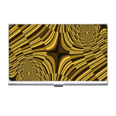 Fractal Golden River Business Card Holders by Simbadda
