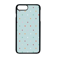 Polka Dot Flooring Blue Orange Blur Spot Apple Iphone 7 Plus Seamless Case (black) by Mariart