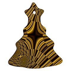 Fractal Golden River Christmas Tree Ornament (two Sides) by Simbadda