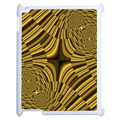 Fractal Golden River Apple Ipad 2 Case (white) by Simbadda