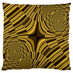 Fractal Golden River Large Cushion Case (one Side) by Simbadda