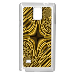 Fractal Golden River Samsung Galaxy Note 4 Case (white) by Simbadda