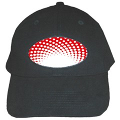 Polka Dot Circle Hole Red White Black Cap by Mariart