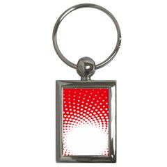 Polka Dot Circle Hole Red White Key Chains (rectangle)  by Mariart