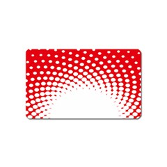 Polka Dot Circle Hole Red White Magnet (name Card) by Mariart