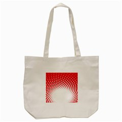 Polka Dot Circle Hole Red White Tote Bag (cream) by Mariart