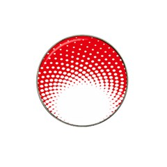 Polka Dot Circle Hole Red White Hat Clip Ball Marker (10 Pack) by Mariart