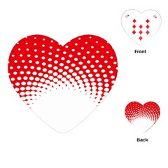 Polka Dot Circle Hole Red White Playing Cards (heart)  by Mariart