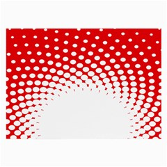 Polka Dot Circle Hole Red White Large Glasses Cloth by Mariart