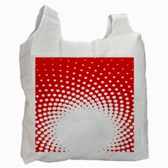 Polka Dot Circle Hole Red White Recycle Bag (one Side) by Mariart