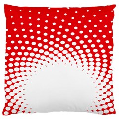 Polka Dot Circle Hole Red White Large Cushion Case (two Sides) by Mariart