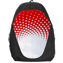 Polka Dot Circle Hole Red White Backpack Bag by Mariart
