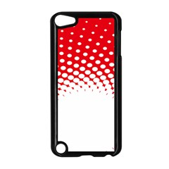 Polka Dot Circle Hole Red White Apple Ipod Touch 5 Case (black) by Mariart