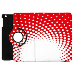 Polka Dot Circle Hole Red White Apple Ipad Mini Flip 360 Case by Mariart