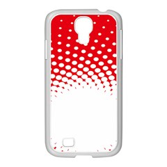 Polka Dot Circle Hole Red White Samsung Galaxy S4 I9500/ I9505 Case (white) by Mariart